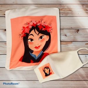 ✨Sale✨Mulan T-shirt and Face Mask One Size